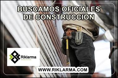 EMPLEO PARA OFICIAL DE CONSTRUCCION EN COLOMBIA