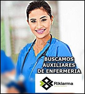 EMPLEO PARA AUXILIAR DE ENFERMERIA EN COLOMBIA
